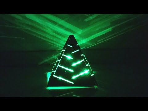 How to Make a 3D Wooden Pyramid LED Lamp for Home Decoration - DIY