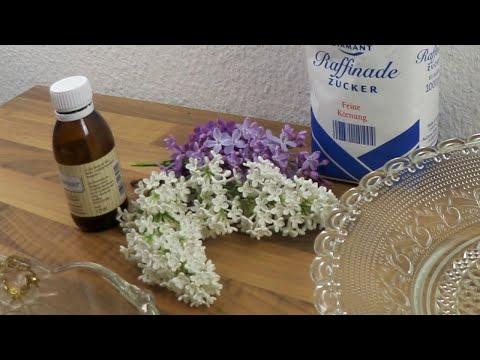 Flieder Blüten kristallisieren, Cupcakes, Torten oder Eisbecher dekorieren mit Zuckerblumen