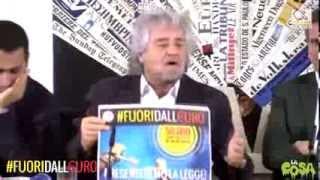 #fuoridalleuro - Grillo presenta il referendum alla stampa estera