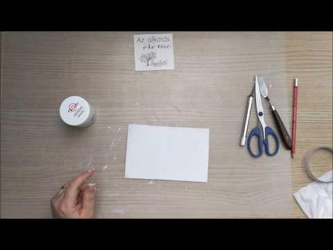 Handmade canvas - step by step video