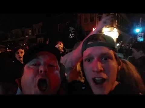 Eagles fan celebrates the Eagles victory in Super Bowl XII