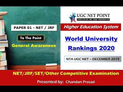 World University Rankings 2020 (Higher Education System) - To The Point