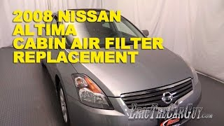 2007-2012 Nissan Altima Cabin Air Filter Replacement -Ericthecarguy