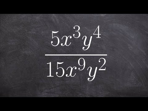 Simplify rational expression using the rules of exponents