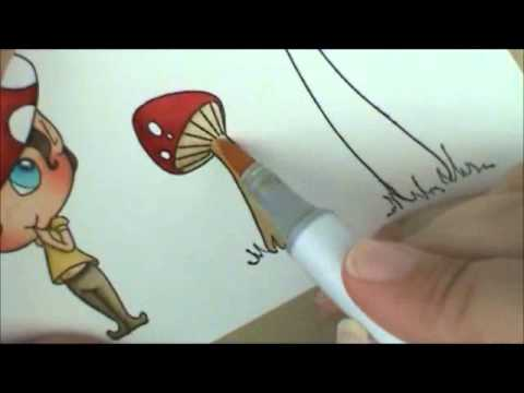 Shroom Copic Coloring Card Kit