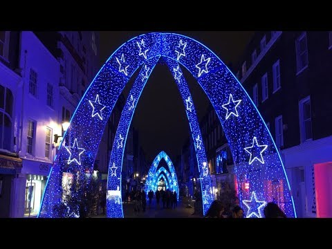The Best Christmas Lights In London | Walking Tour Around The City