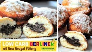 Low Carb Berliner, Krapfen, berliner Pfannkuchen selber machen I Rezept ohne Zucker und ohne Mehl