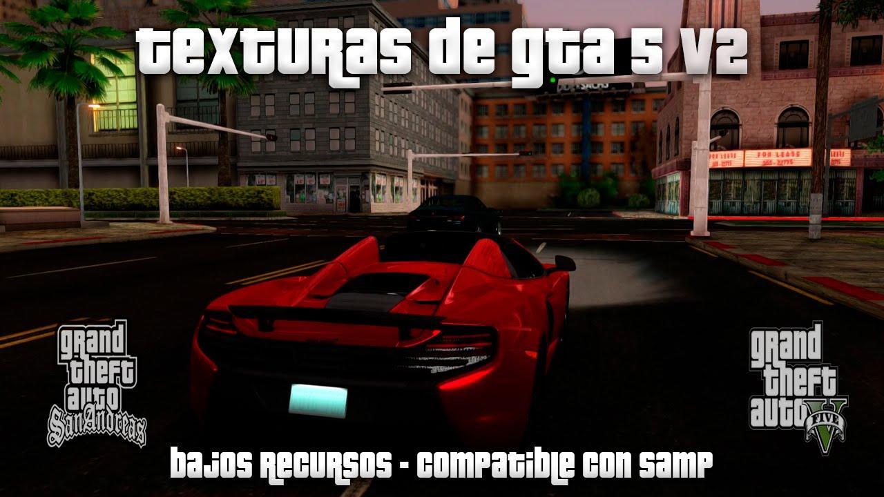 TEXTURAS NUEVAS DE GTA 5 v2 PARA GTA SAN ANDREAS