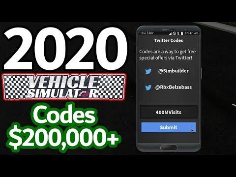 2020 All Working Vehicle Simulator Codes Roblox Vehicle