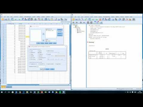How To... Perform a One-Way ANOVA Test in SPSS