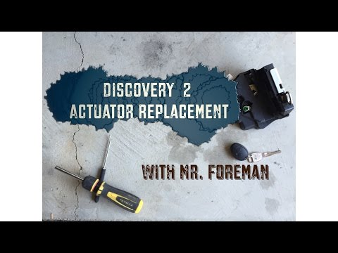 Land Rover Discovery 2 door actuator replacement - YouTube