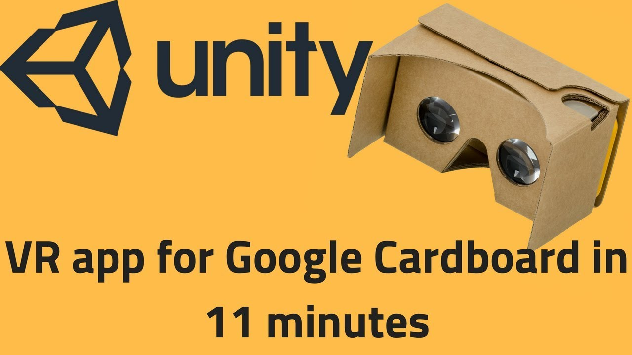 80e68a2552df Unity VR Tutorial 2018 - How to create your first VR app in 11 minutes for Google  Cardboard