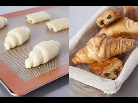 Technique de cuisine : plier des croissants et pains au chocolat