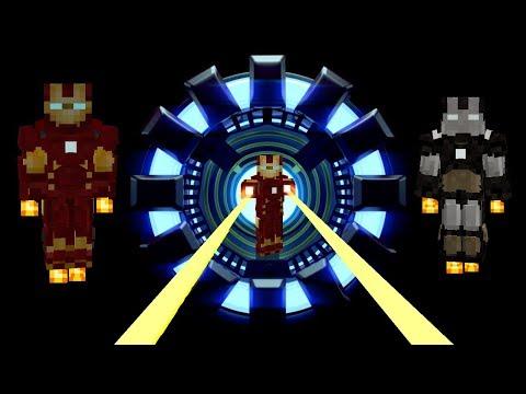 Iron Man Mark 1-14 Minecraft Mod(Superheroes Unlimited 6.0) Suit Showcase