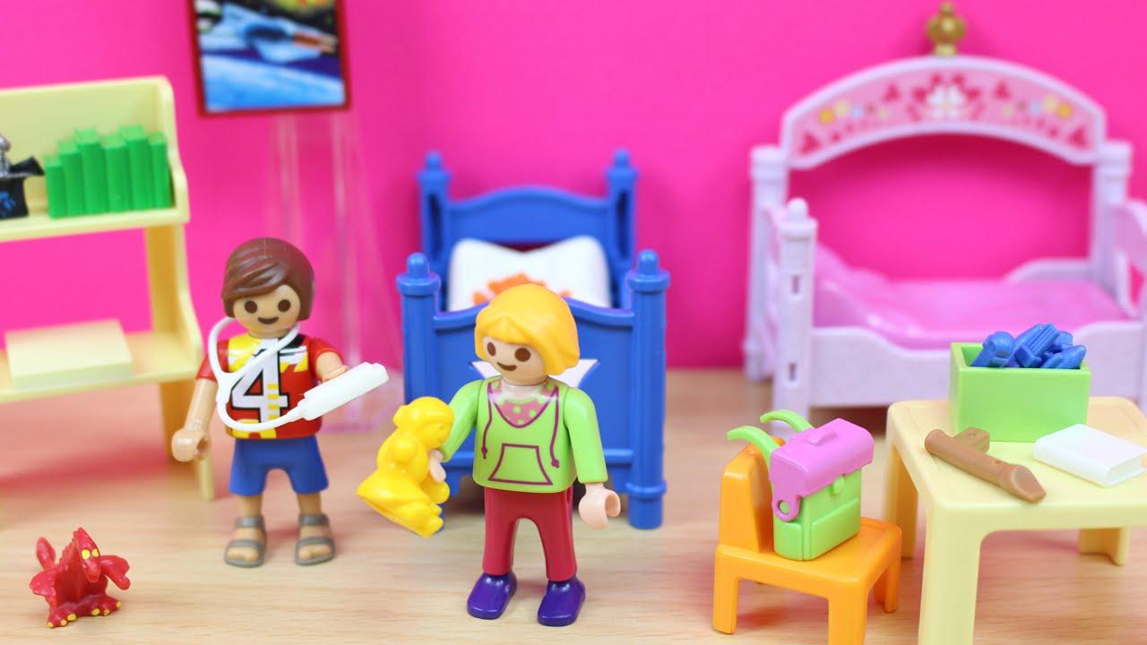 Habitaci n de los ni os de playmobil en espa ol juguetes de casitas para ni os youtube - Habitacion para 2 ninos ...