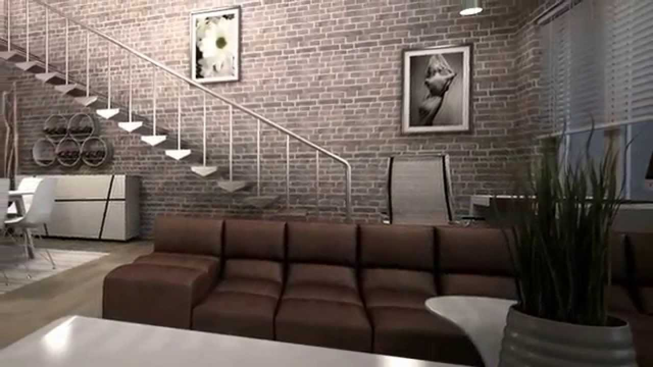 Dise o interior loft love youtube for Photo de loft renover