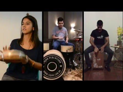 Família de artistas da Cajon Percussion