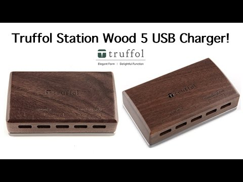 Truffol Station Wood 5 USB Charger
