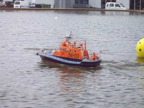 Model RNLI Lifeboats on Guernsey's Model Yacht Pond