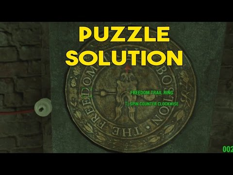 Fallout 4 - Freedom trail puzzle solution
