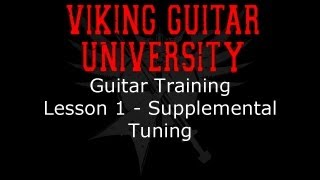 Guitar Training - Tuning - Viking Guitar University