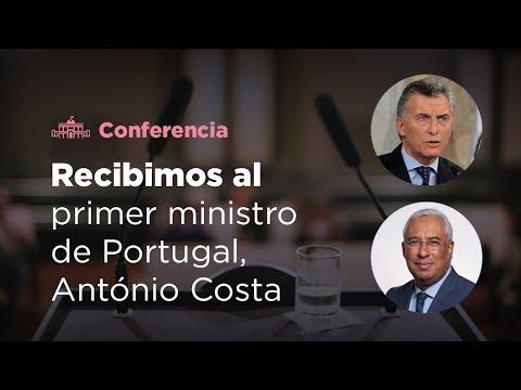 Declaración conjunta del presidente Mauricio Macri y Antonio Costa