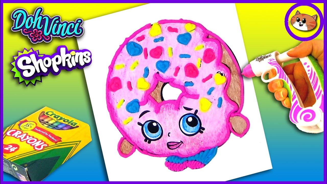 Shopkins dohvinci dlish donut coloring pages