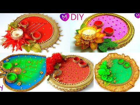 Haldi Kunku platter/plate for Makar Sankrant| Sankrantiche Vaan| Pooja/Aarti Thali decoration ideas from YouTube · Duration:  5 minutes 47 seconds