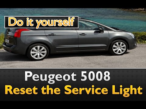 peugeot 5008 how to reset the service light youtube. Black Bedroom Furniture Sets. Home Design Ideas