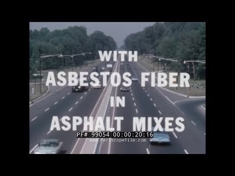 """modern-paving-techniques-w/-asbestos-fiber-""-1960s-johns-manville-highway-construction-film-99054"