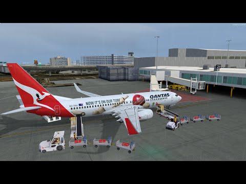 P3D v3.35 Qantas 934 Sydney to Melbourne Rnav approach on vatsim with pmdg 737ngx and fs2crew reboot