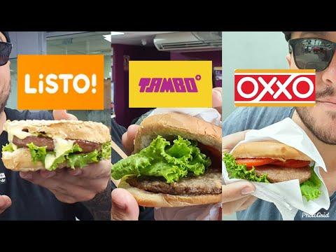 HAMBURGUESA DE LISTO VS HAMBURGUESA DE TAMBO VS HAMBURGUESA DE OXXO  Elcholomena