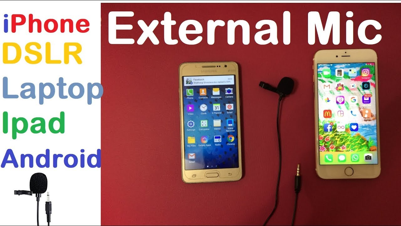 How to use an external microphone with iphone /android