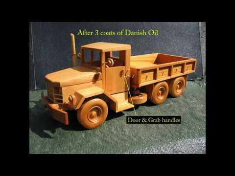 Cara Membuat Mainan Kayu : Deuce and a Half (Truck)