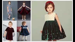 Velvet frock designs for baby girl=Velvet outfit=Velvet kids clothes=Formal dresses for girls