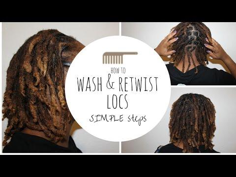 HAIR WASH & LOC RETWIST TUTORIAL || LET'S ELAB