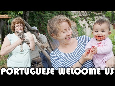 PORTUGUESE NEIGHBOURS WELCOME US - FAMILY VLOGGERS DAILY VLOG