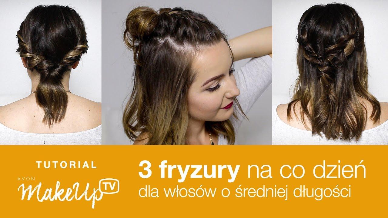 3 Szybkie Fryzury Na Co Dzień Do średnich Włosów Milena