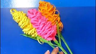 мастер класс весенние цветы сирень.гиацинт из цветной бумагилегко поделки на 8 марта, день матери