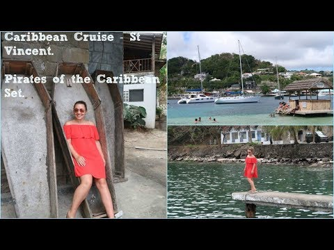 Caribbean Cruise Vlog - St Vincent. WE VISIT THE PIRATES OF THE CARIBBEAN SET.