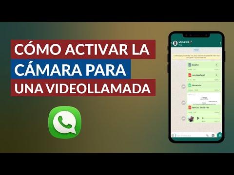 Cómo Activar la Cámara para Usarla en una Videollamada de WhatsApp