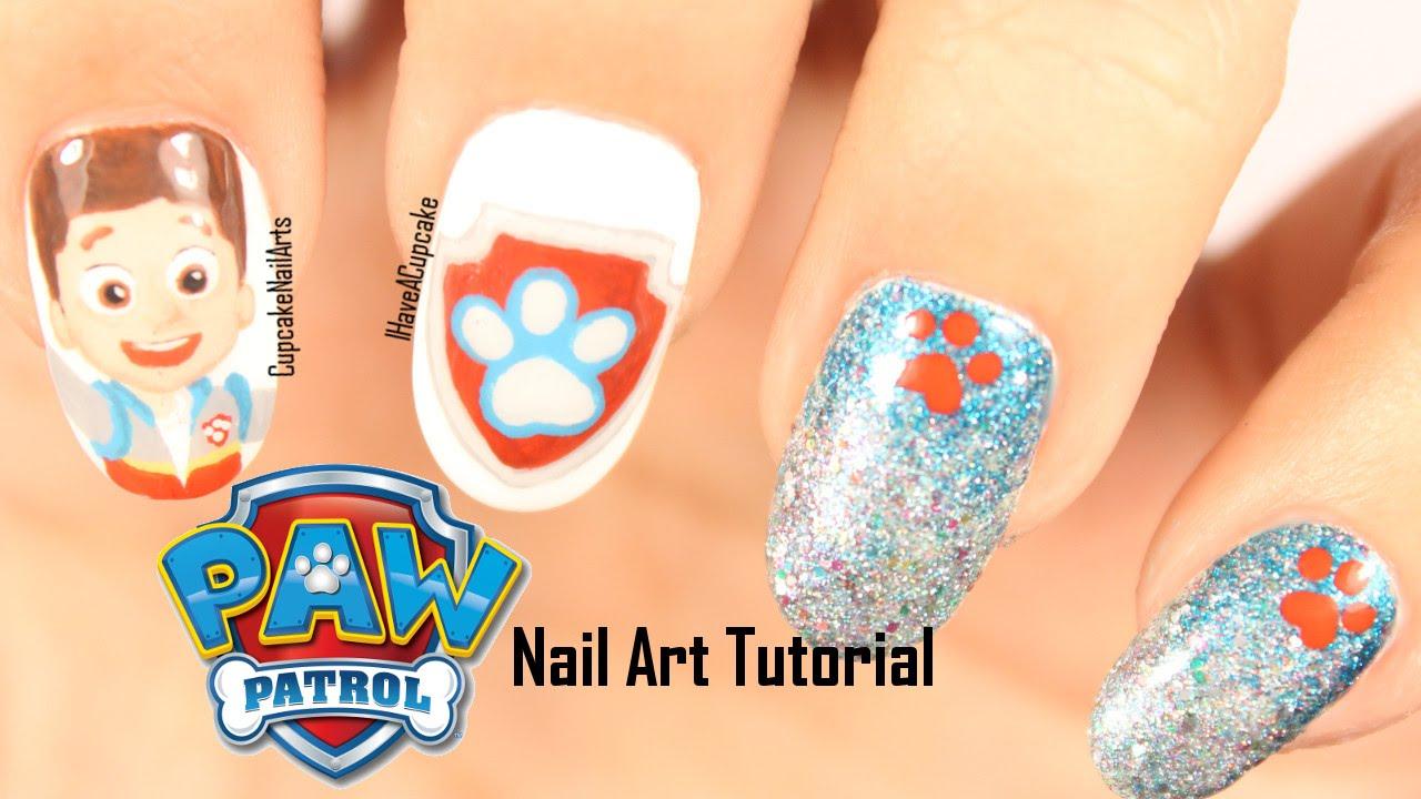 paw patrol nails ryder nail art