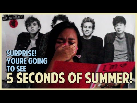 SURPRISING My Little Sis With 5SOS Concert Tickets!! || ROWYSO Tour