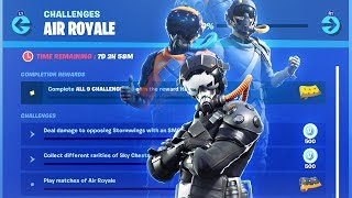The NEW Fortnite AIR ROYALE CHALLENGES FREE REWARDS! (Fortnite Air Royale Event Rewards)