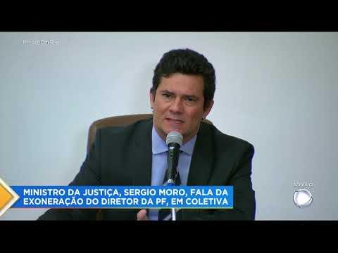 Sergio Moro reúne imprensa e anuncia demissão do cargo de Ministro da Justiça