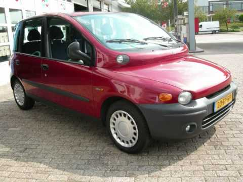 fiat multipla elx airco 6 ede auto 39 s youtube. Black Bedroom Furniture Sets. Home Design Ideas