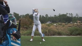Michelle Wie - 100% Full Out Driver Swing (Extreme Slow Motion) 2014