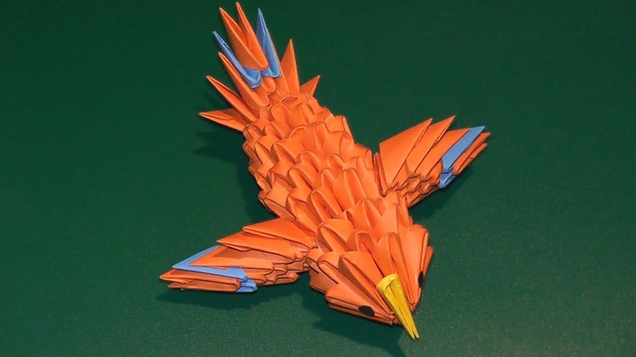 3D origami a hummingbird (a canary) tutorial - YouTube - photo#35