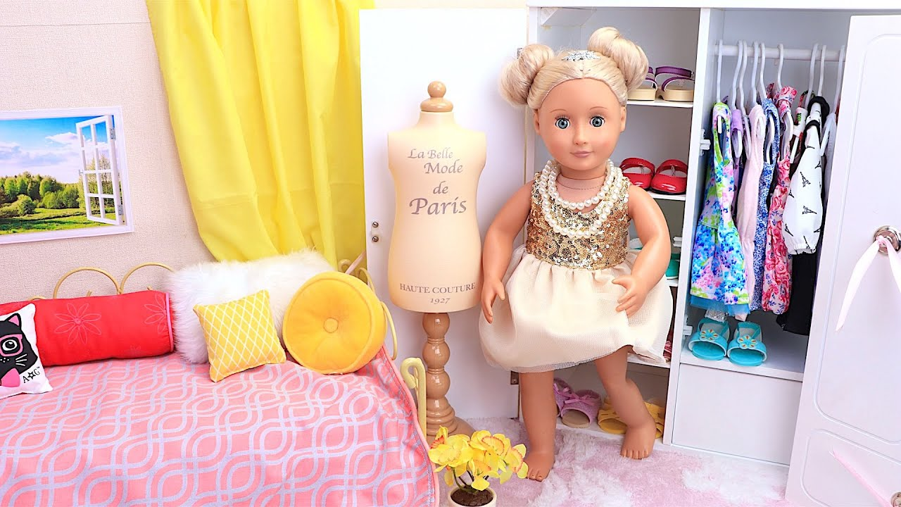 Baby Doll princess dress & make up toys - Compilation funny stories for girls!