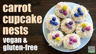 carrot cupcake nests (vegan & gluten-free) Something Vegan